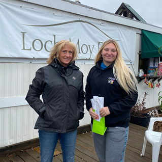 Ashley is with dressage judge and mentor, Suzy Floyd